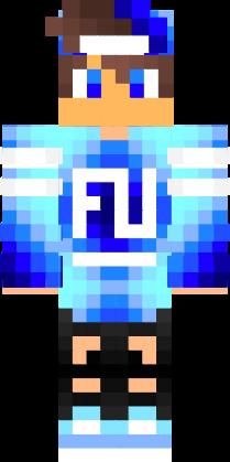 Cool Blue Boy Nova Skin Skin Minecraft Skins Company Logo