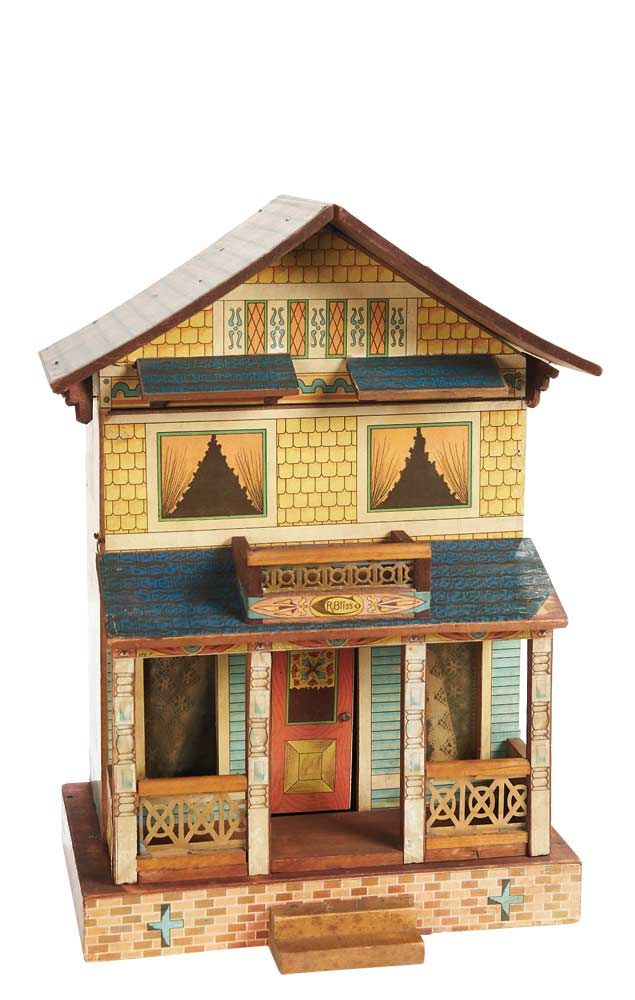 R Bliss Usa 16 X11 X7 The Two Story Wooden Dollhouse 1890 S