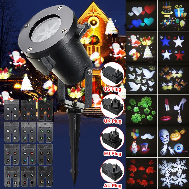 12Pattern Waterproof LED Moving Laser Projector Stage