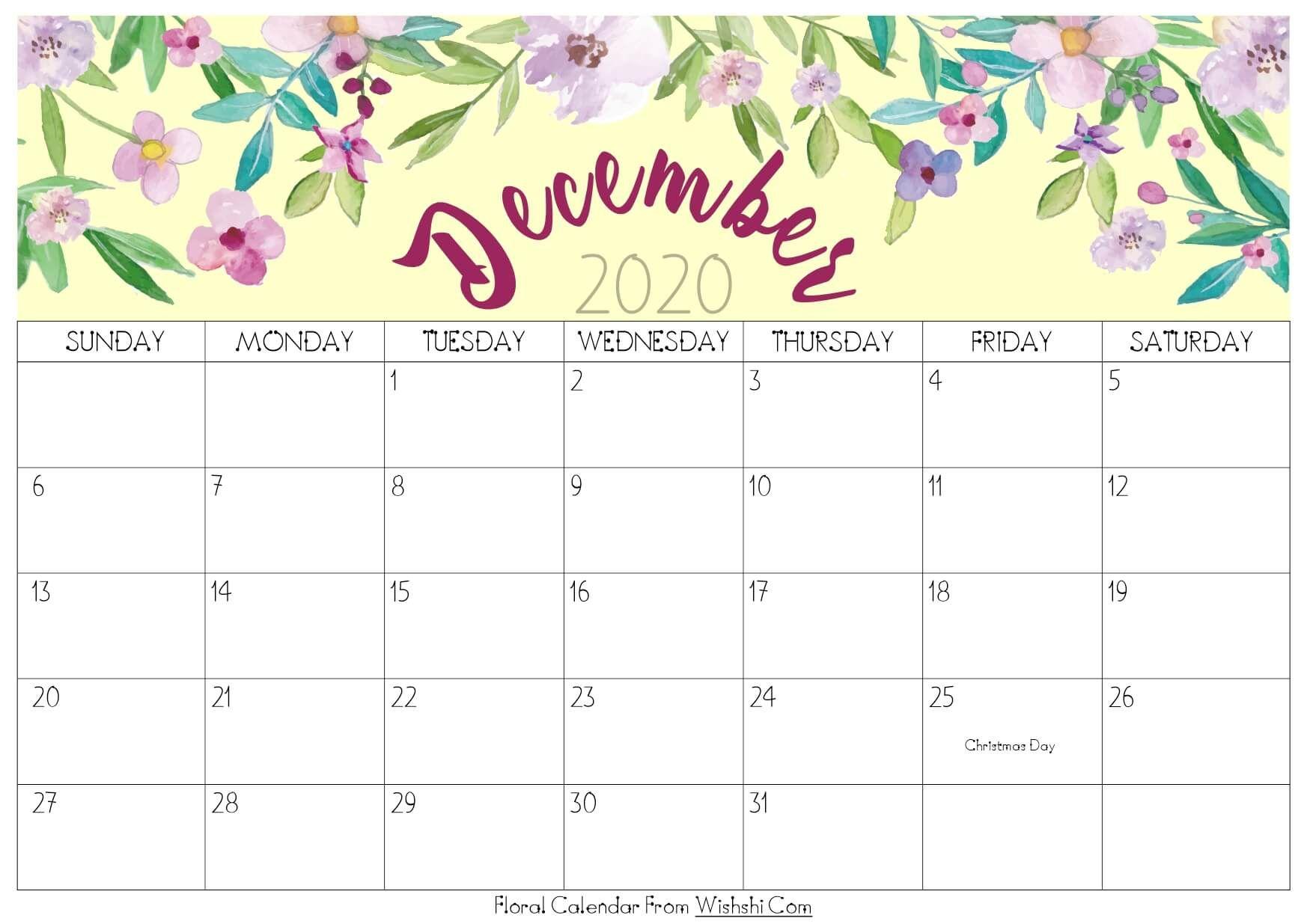 Free Whimsical Christmas Theme 2021 December Printable Calendar Cute December 2020 Calendar Printable Calendar Printables Print Calendar Calendar