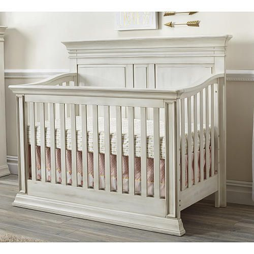 Baby Cache Vienna 4-in-1 Convertible Crib - Antique White - Baby Cache - Baby Cache Vienna 4-in-1 Convertible Crib - Antique White - Baby