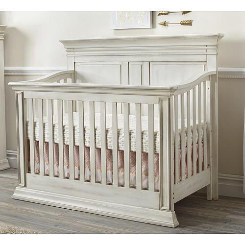 Baby Cache Vienna 4-in-1 Convertible Crib - Antique White - Baby Cache Vienna 4-in-1 Convertible Crib - Antique White Baby