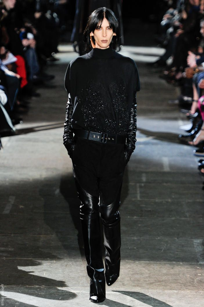 Dark sparkles at Givenchy A/W.