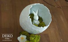 Diy osterdeko mit deko vasen aus gipsbinden deko kitchen ostern pinterest ostern ostern - Deko kitchen ostern ...