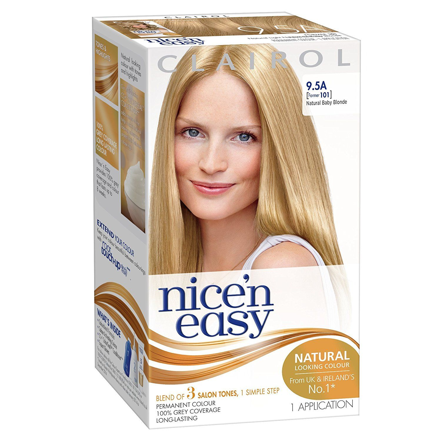 Clairol Nice \'n\' Easy Permanent Hair Colour 101 Natural Lightest ...