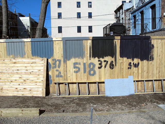 View from Federal Twist: Garden Diary:  Testing Fence Colors for the Brooklyn Garden