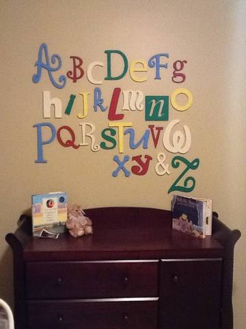 "Alphabet Letter Set 5/""-10/"" heights Unpainted Wood Wall Letters Baby Shower Decor"