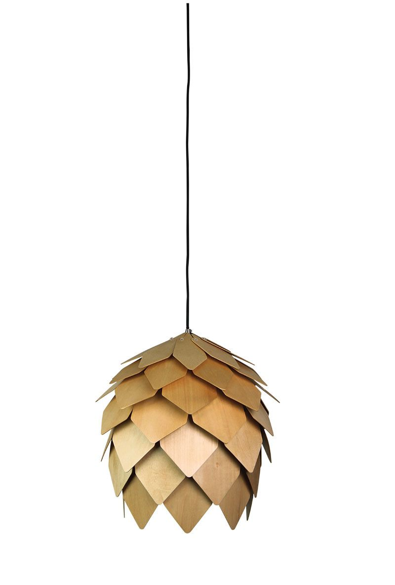 pendant light natural timber e27 in 25cm 40cm or 50cm acorn oriel