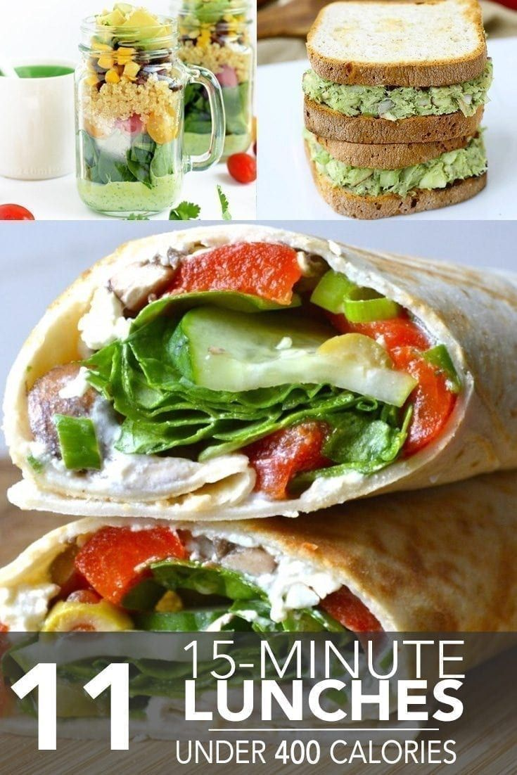 11 Fifteen-Minute Lunches Under 400 Calories | MyFitnessPal #myfitnesspalrecipes