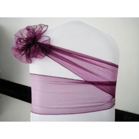 purple chair cover sash chair organza sash chair tie perfect for