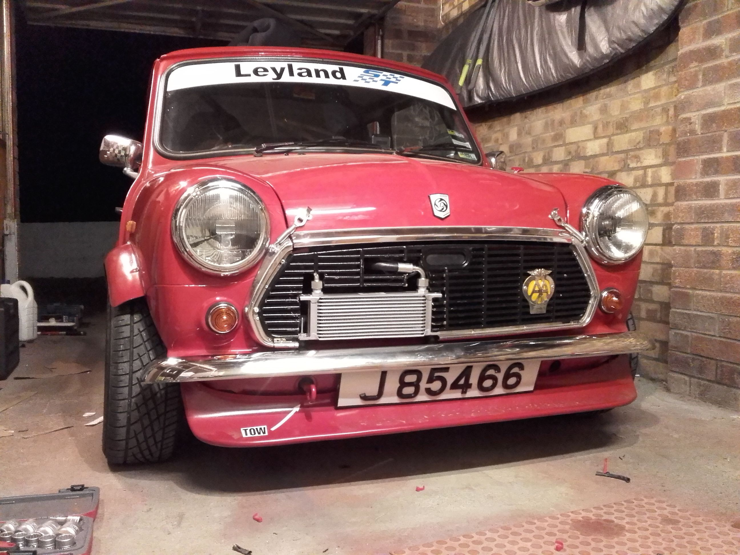 Oil Cooler And New Front Spoiler Fitted From Abs Classic Mini