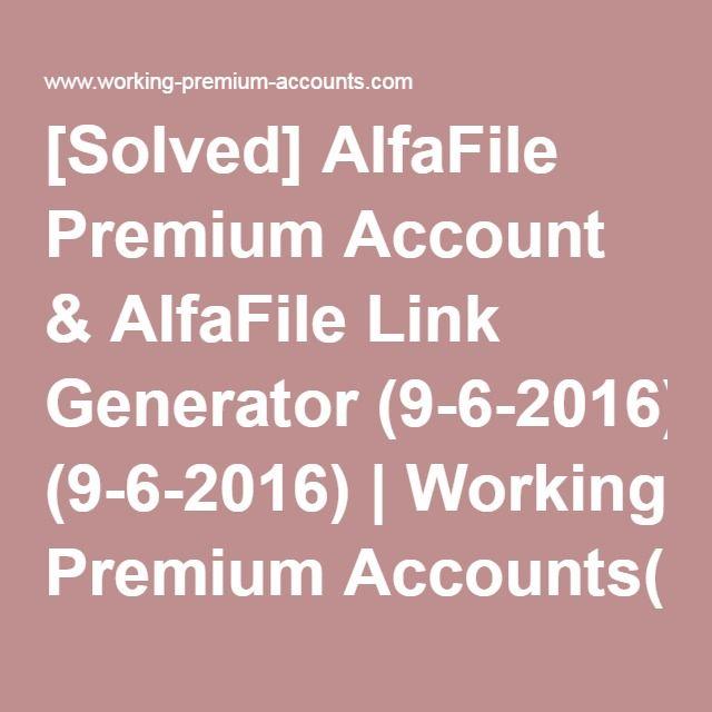 alfafile.net premium link generator