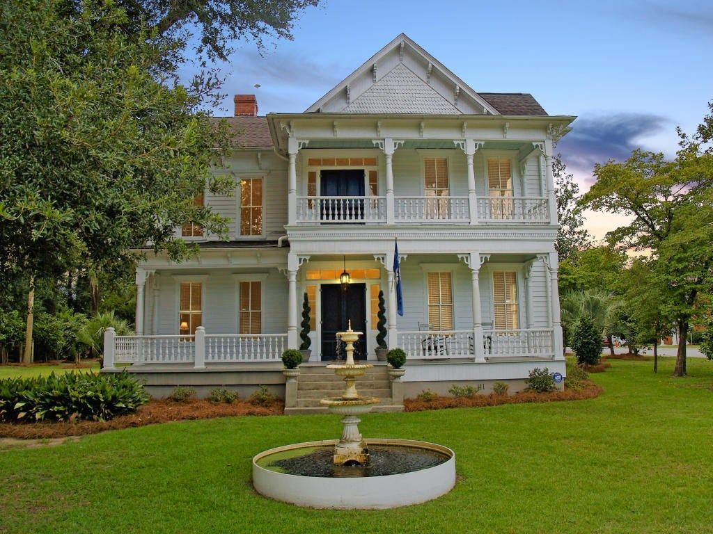 Historic Southern Victorian in a park like
