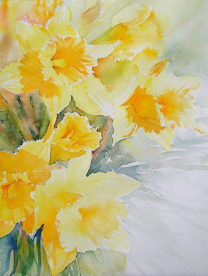 Jonquilles Peinture Fleurs