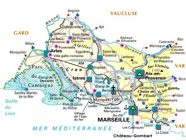 Bouches Du Rhône Municipalities Vector Map With Names