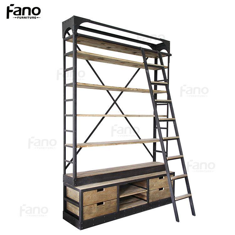 Mobiliário Antigo Estante De Metal De Ferro Industrial Do Vintage ...