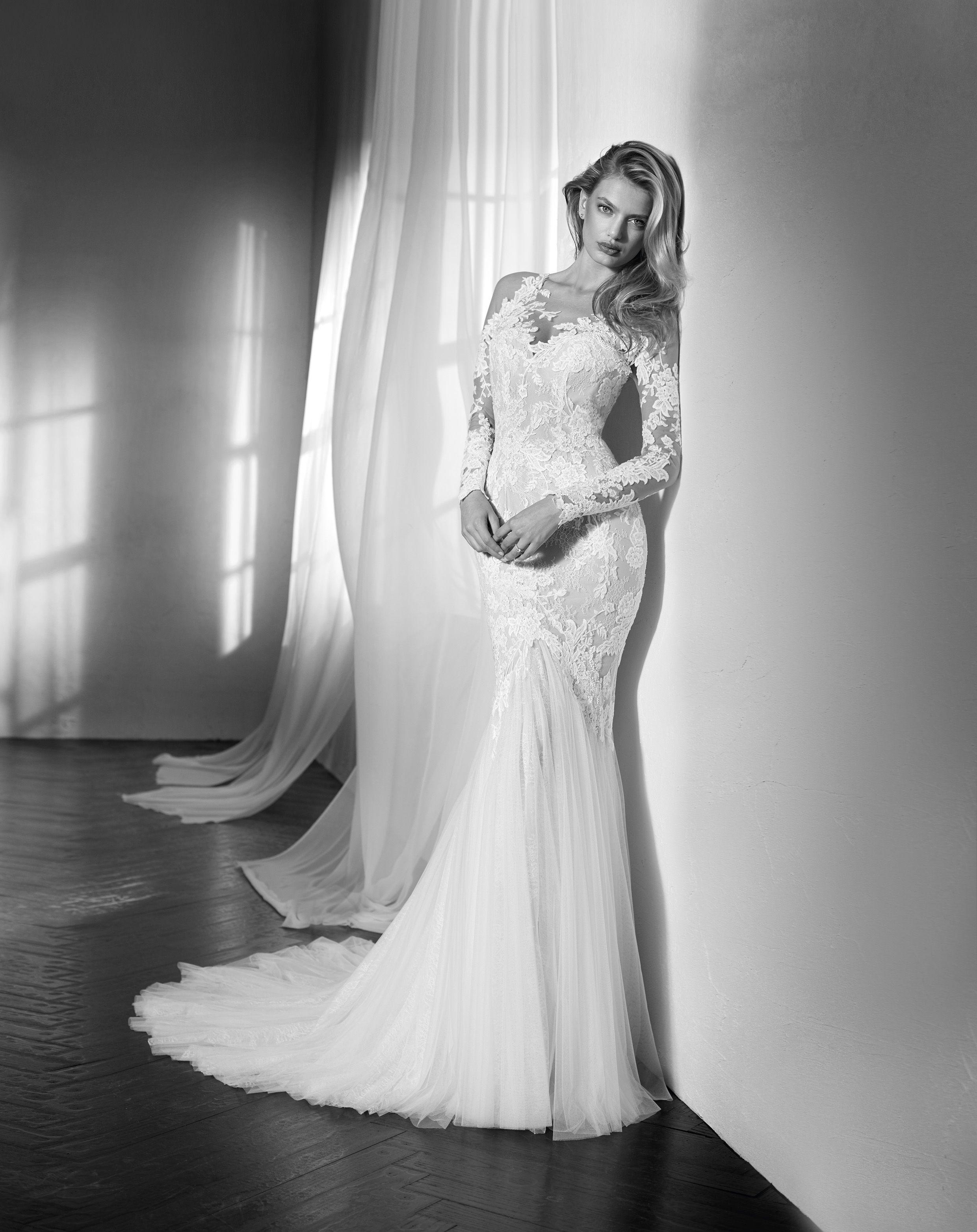 58133716d3fe ZANTE long sleeve fitted mermaid wedding dress st patrick luv bridal  pronovias