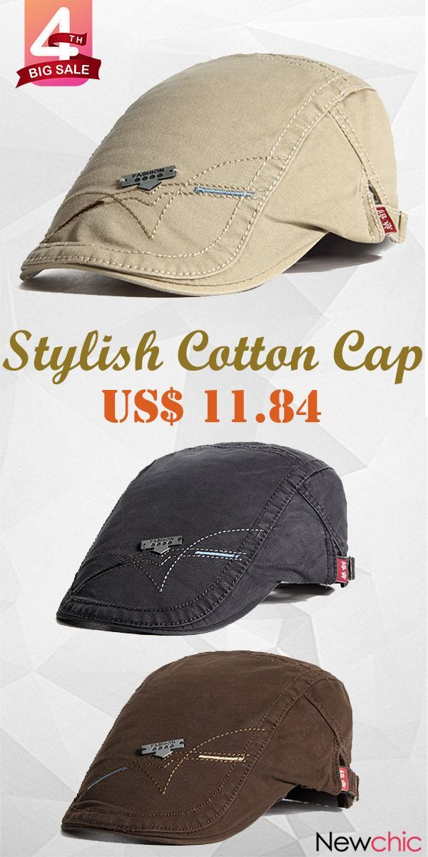 d6d7d6db 【Get Discount】Classic Cotton Newsboy Berets Visor Cap Autumn Adjustable Hat  England Style.