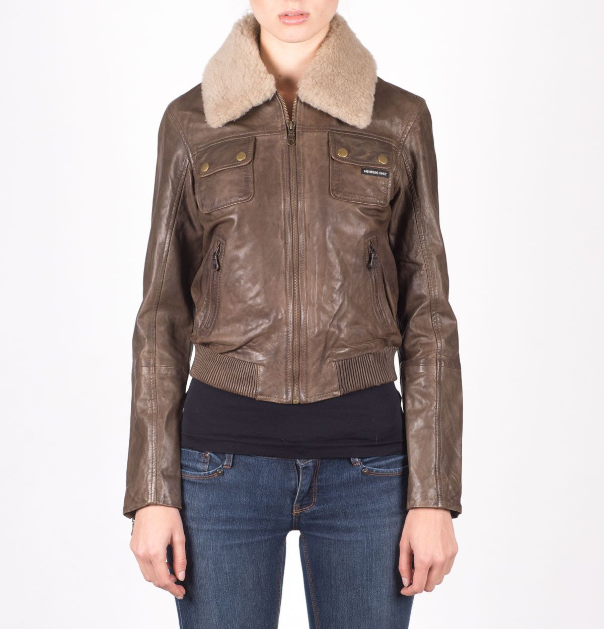 women's brown leather aviator jacket Aviator leather