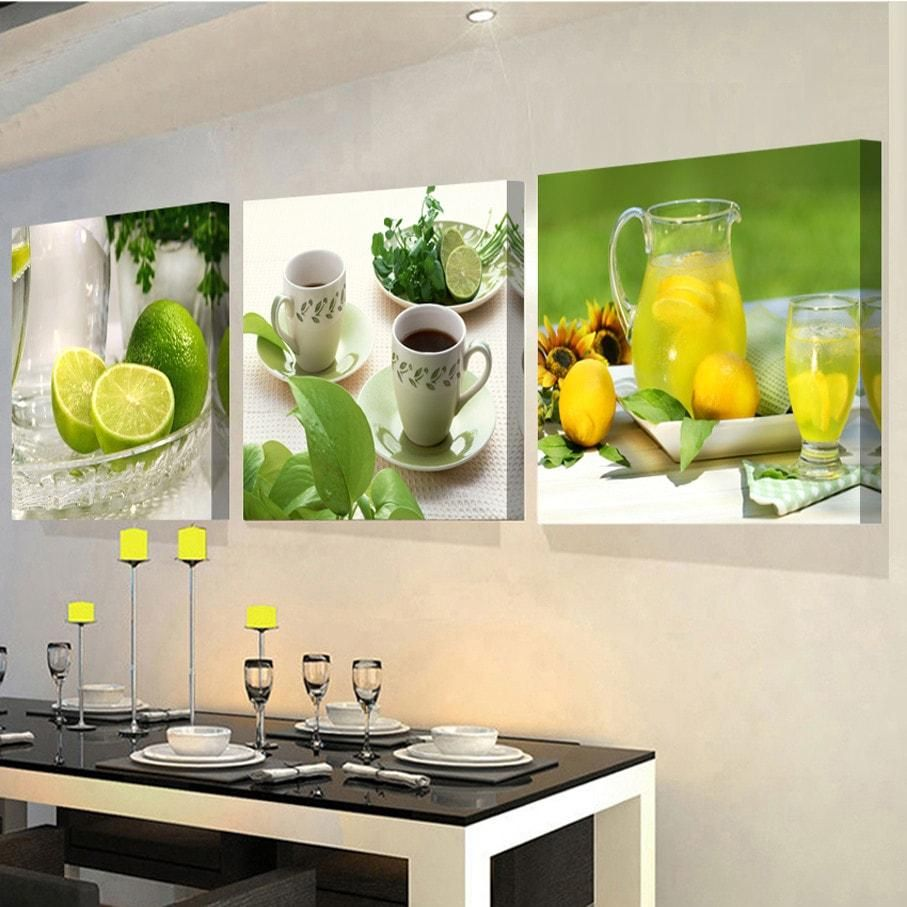 3 Panel Kitchen Decor Print On Canvas Kitchen Wall Art Modern Wall Decor Kitchen Design Decor