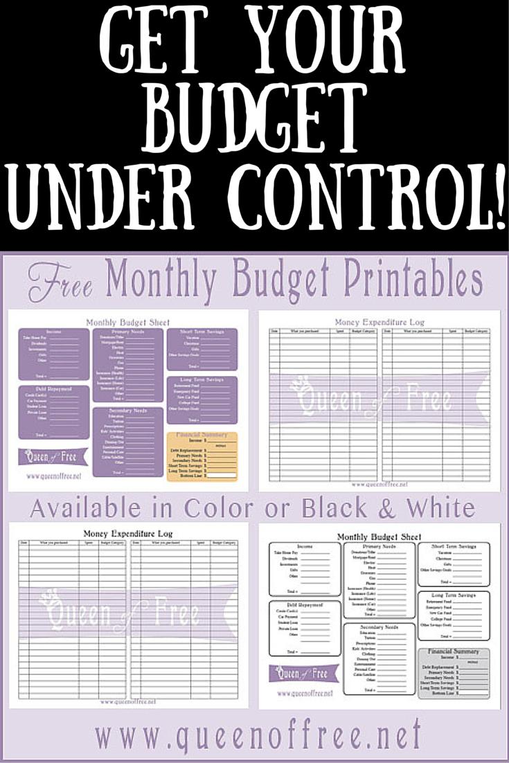 Free Printable Budget Worksheet | Finanzen, Hausprojekte und Kalender