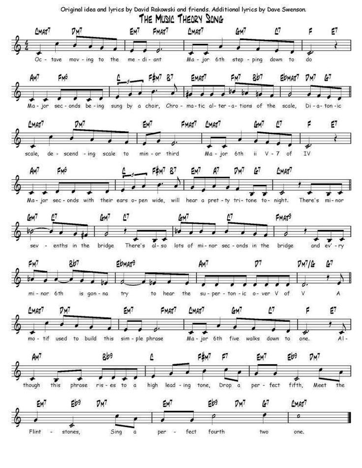 Music Theory song | Musikunterricht, Klavier und Lieder