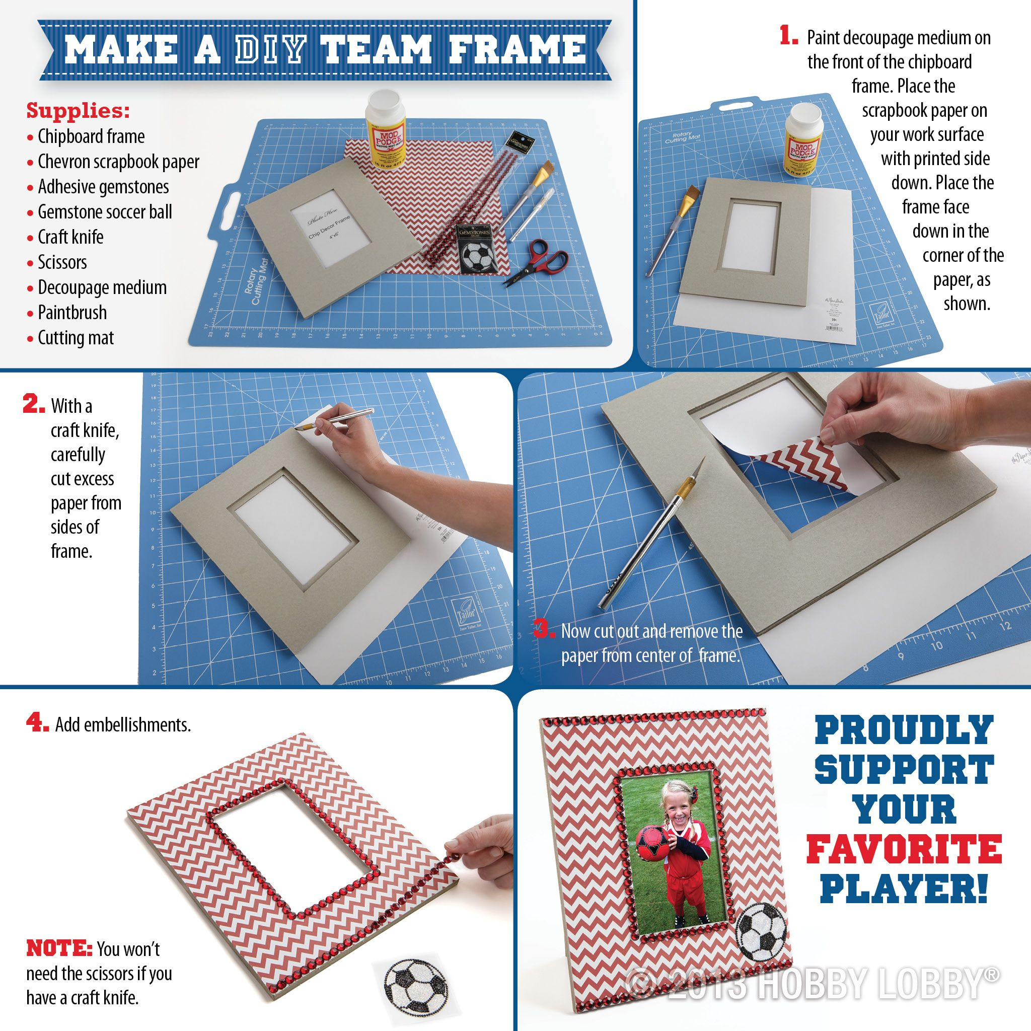 Make a diy sports team frame and cheer on your favorite player make a diy sports team frame and cheer on your favorite player jeuxipadfo Images