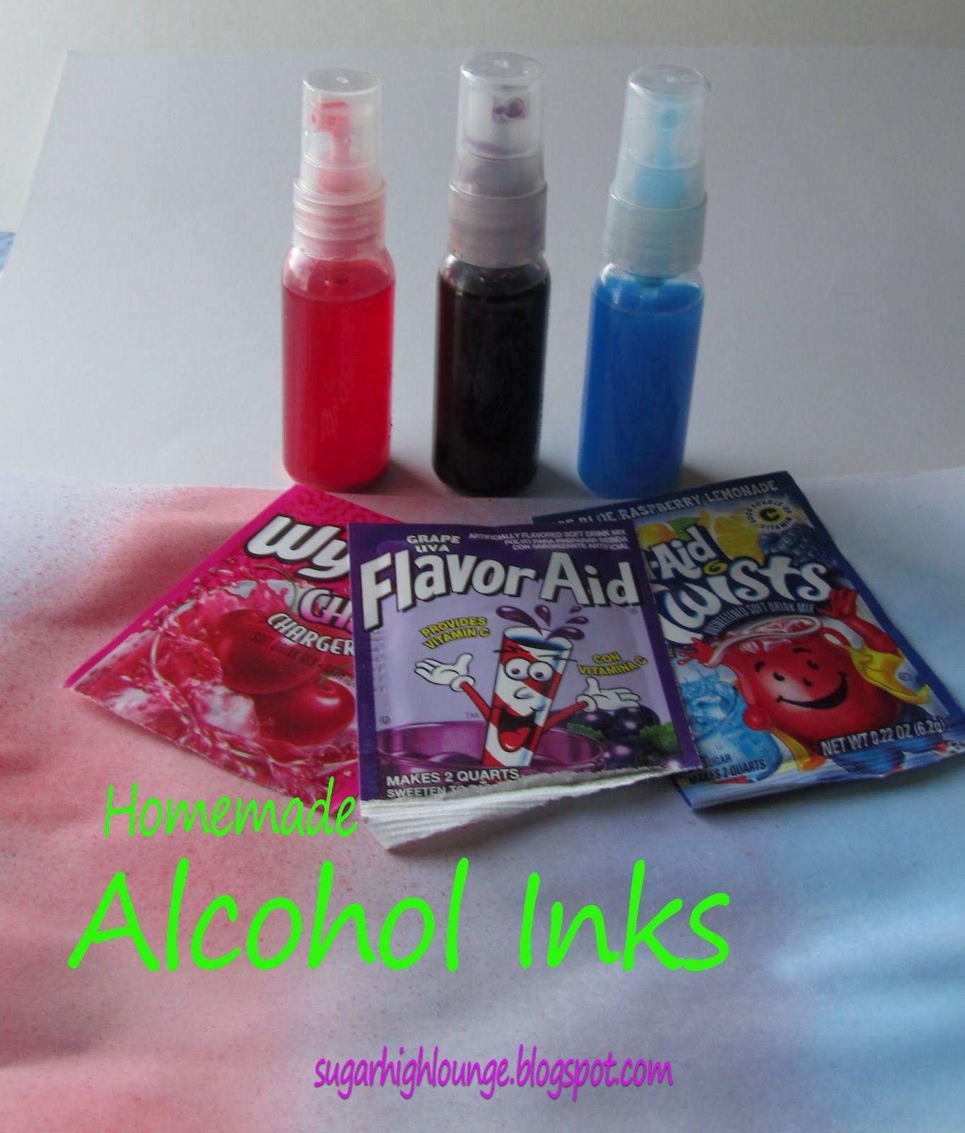 Homemade Alcohol Inks | Homemade alcohol Alcohol ink ...