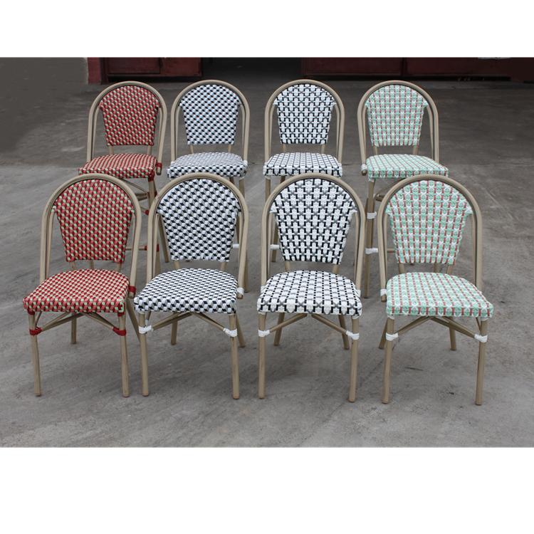 Chaise En Rotin Pour Patio Exterieur Chaise En Aluminium Rotin Bistrot Aspect Bambou Find Complete Details About Chaise En In 2020 Rattan Chair Aluminum Chairs Chair