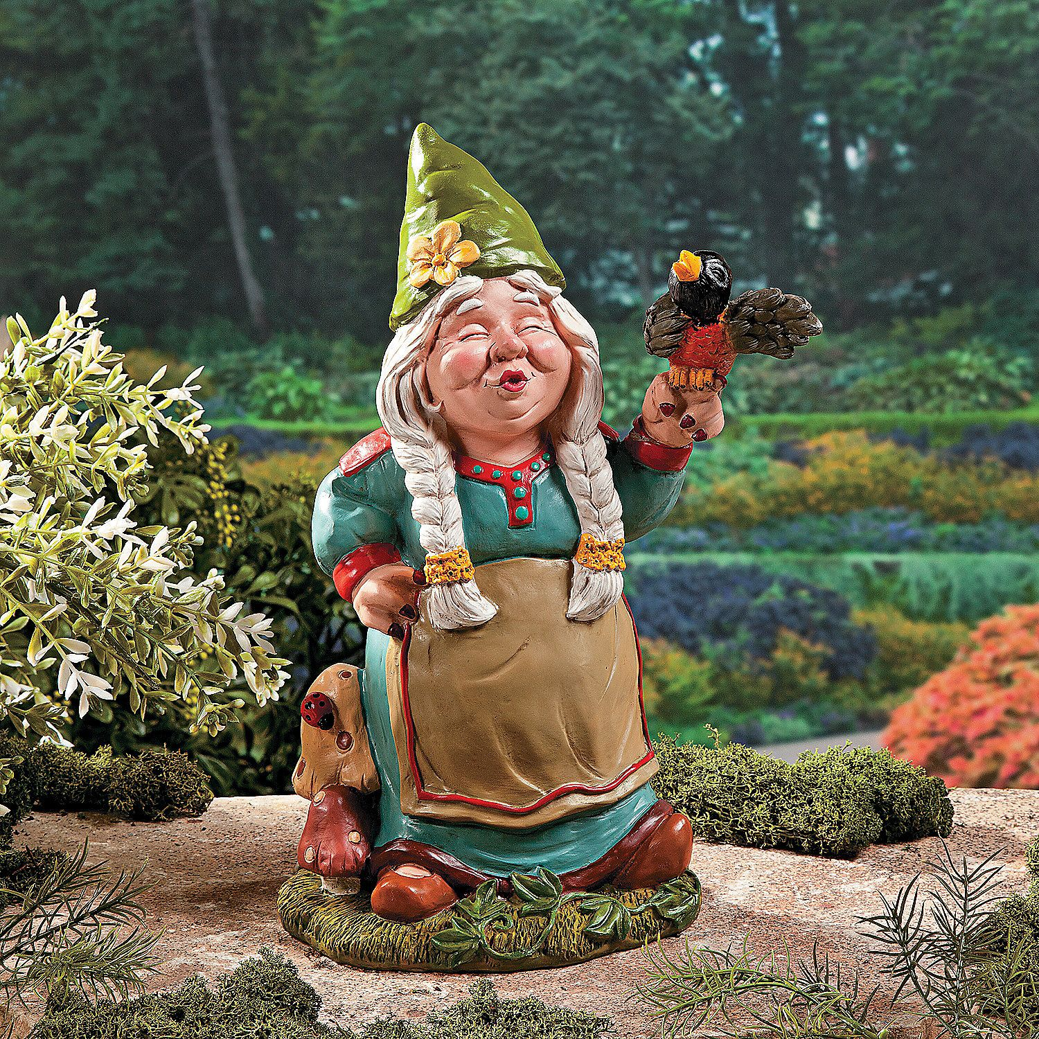 Girl Gnome Bursting Out In Song This Girl Gnome Has A Songbird