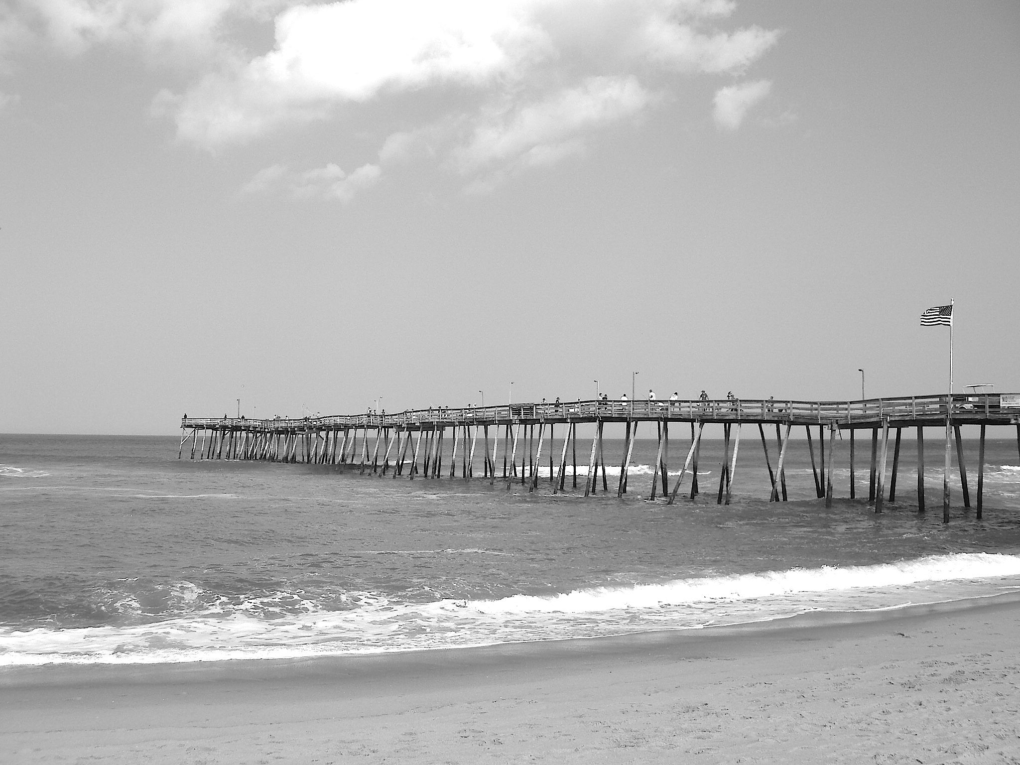 Black & White Avalon Pier, Nags Head, NC, Outer Banks by