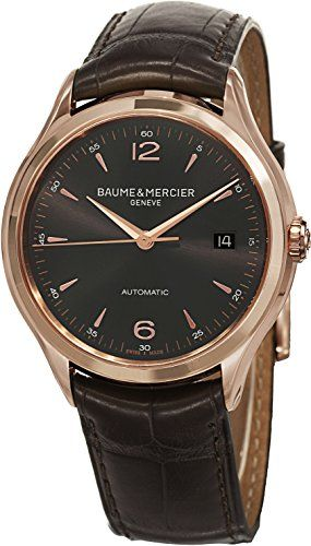 Baume & Mercier Mens BMMOA10059 Clifton Analog Display Swiss Automatic Brown Watch