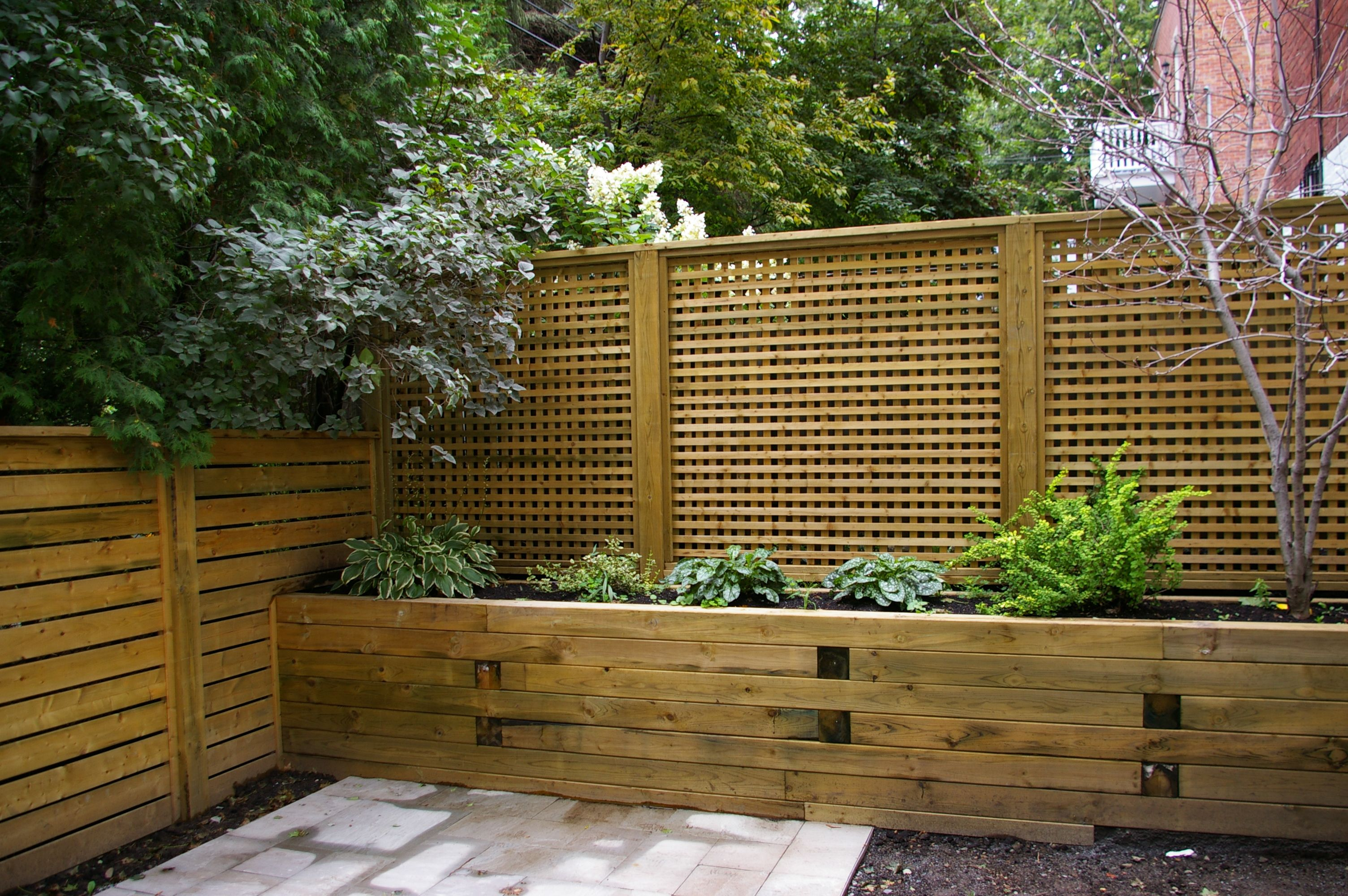 privacy wall planter on deck pinterest