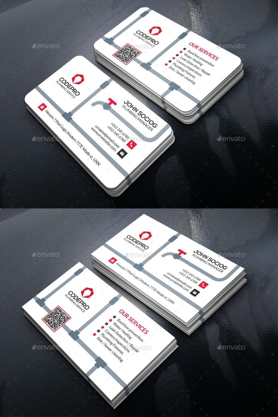 Plumbing Business Card Template Psd Business Card Templates