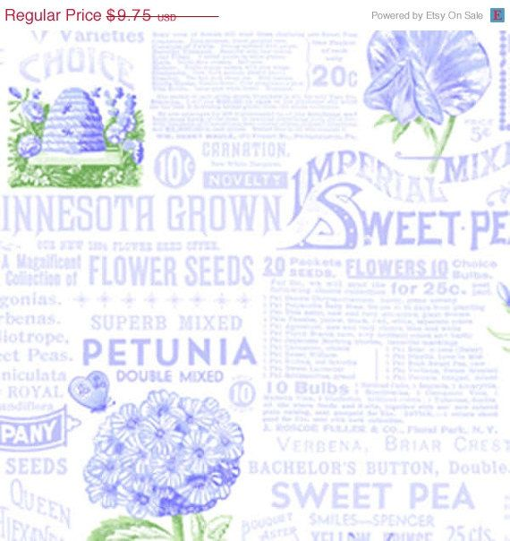 ON SALE Sausalito Cottage by Lakehouse Words in Periwinkle one yard