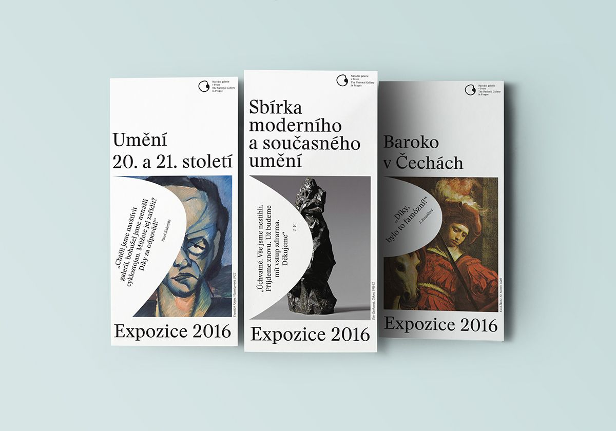 The National Gallery in Prague / concept & identity on Behance