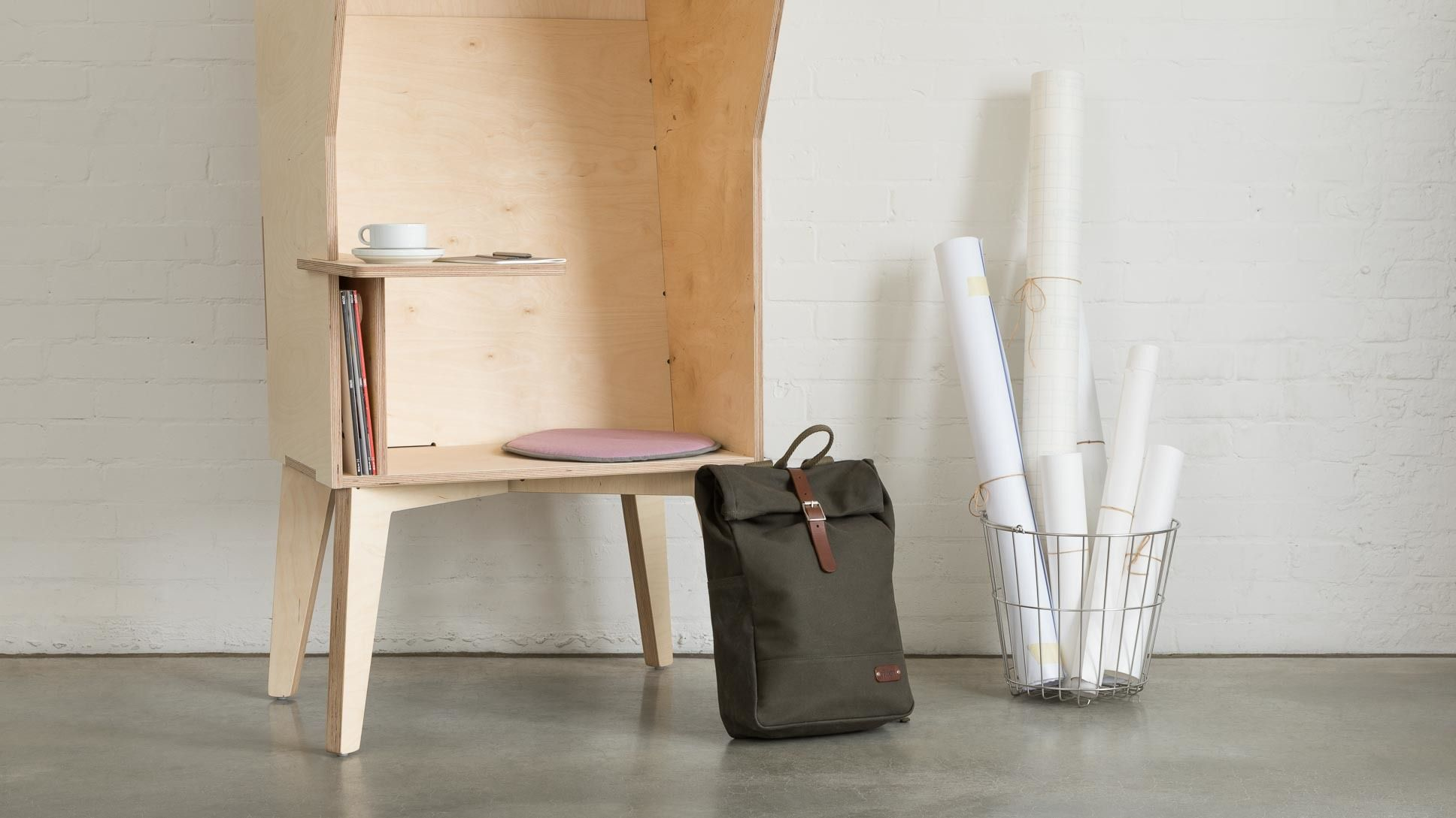 Wiki Booth | Design Revamp: the Wiki Booth | Plywood storage