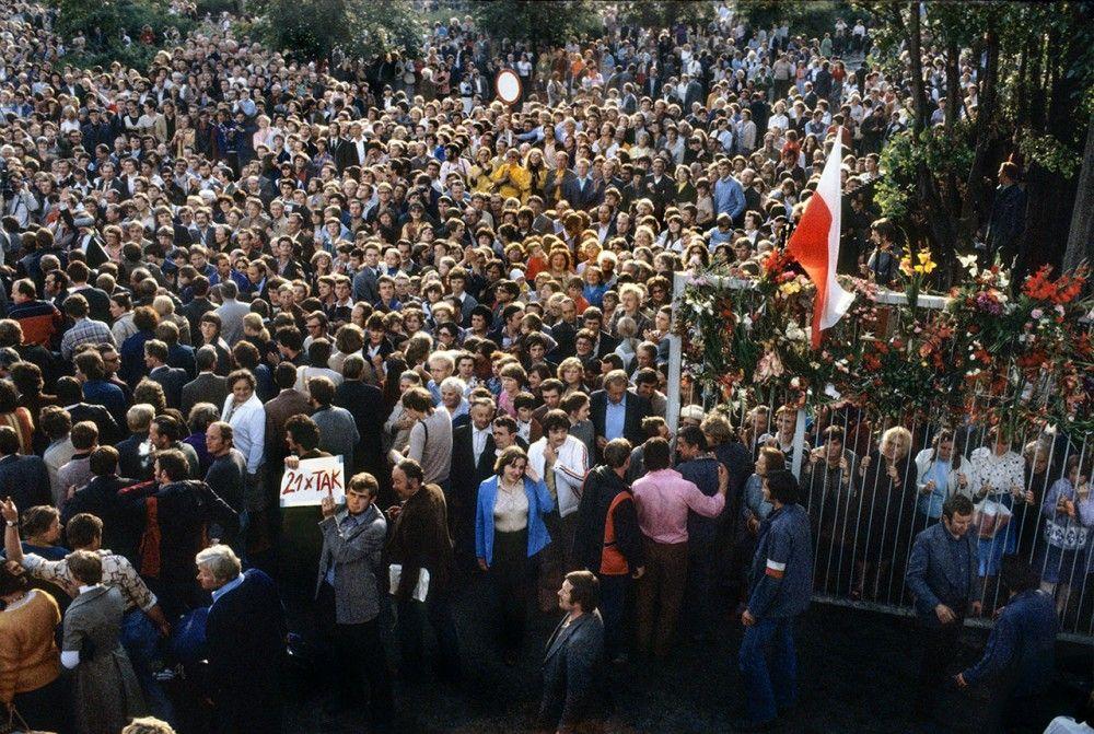 Koniec strajku w Stoczni im, Lenina  Fot. Chris Niedenthal