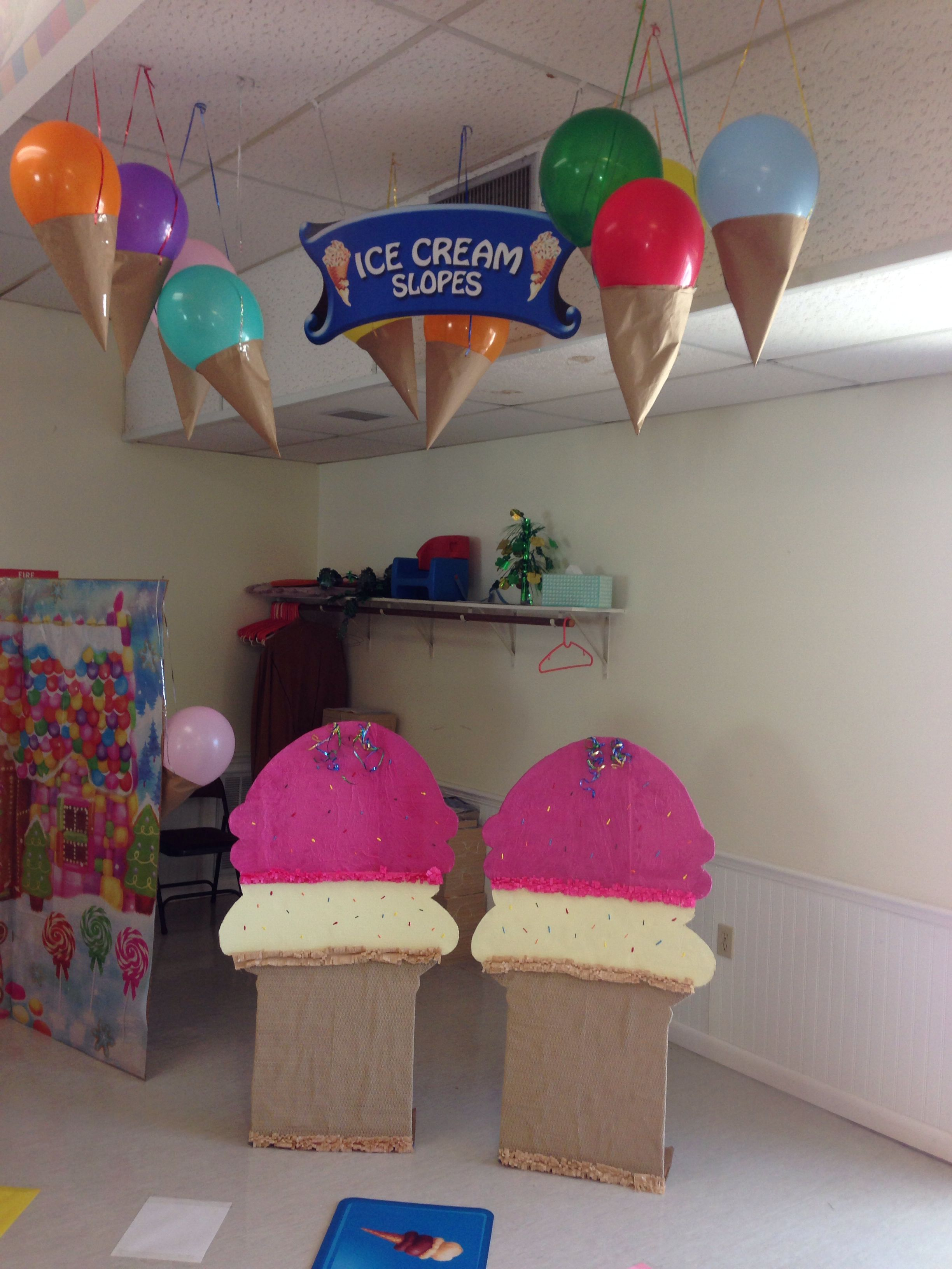 Ice cream slopes Candyland party, Ice cream birthday