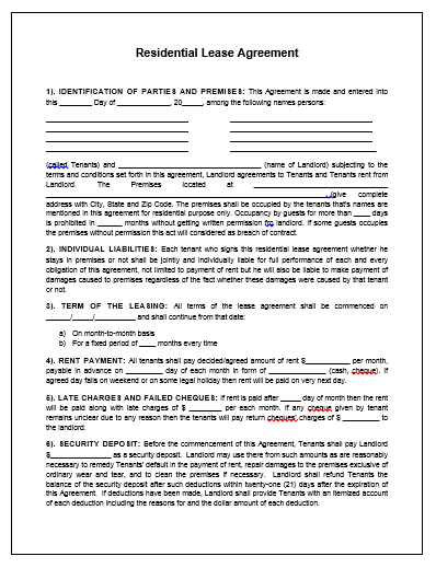 Property Agreement Template Microsoft Word Templates Sample