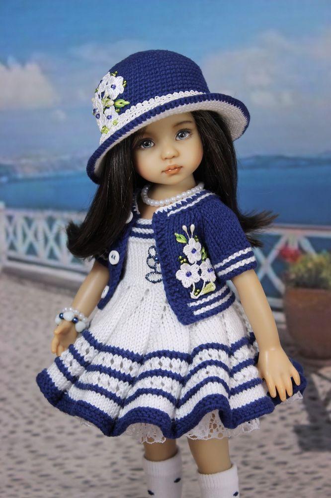 Details about Ооак наряд для куклы 13 Дианна Effner Little Darling #vestidosparabebédeganchillo