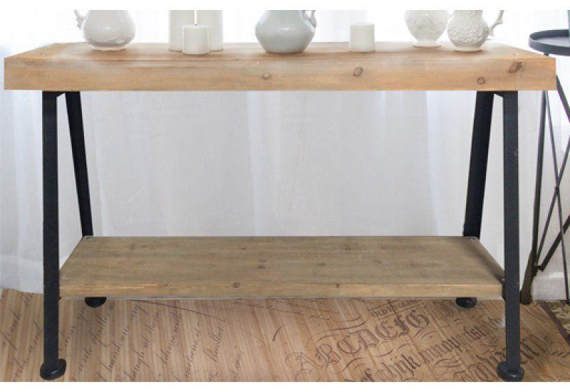 Sawhorse Console Table, Console Table, Wooden Console Table