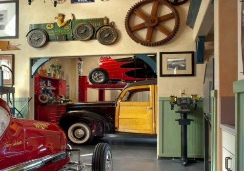 Garage design hot rod shop art cars toys pinterest garage - Decoration garage maison ...