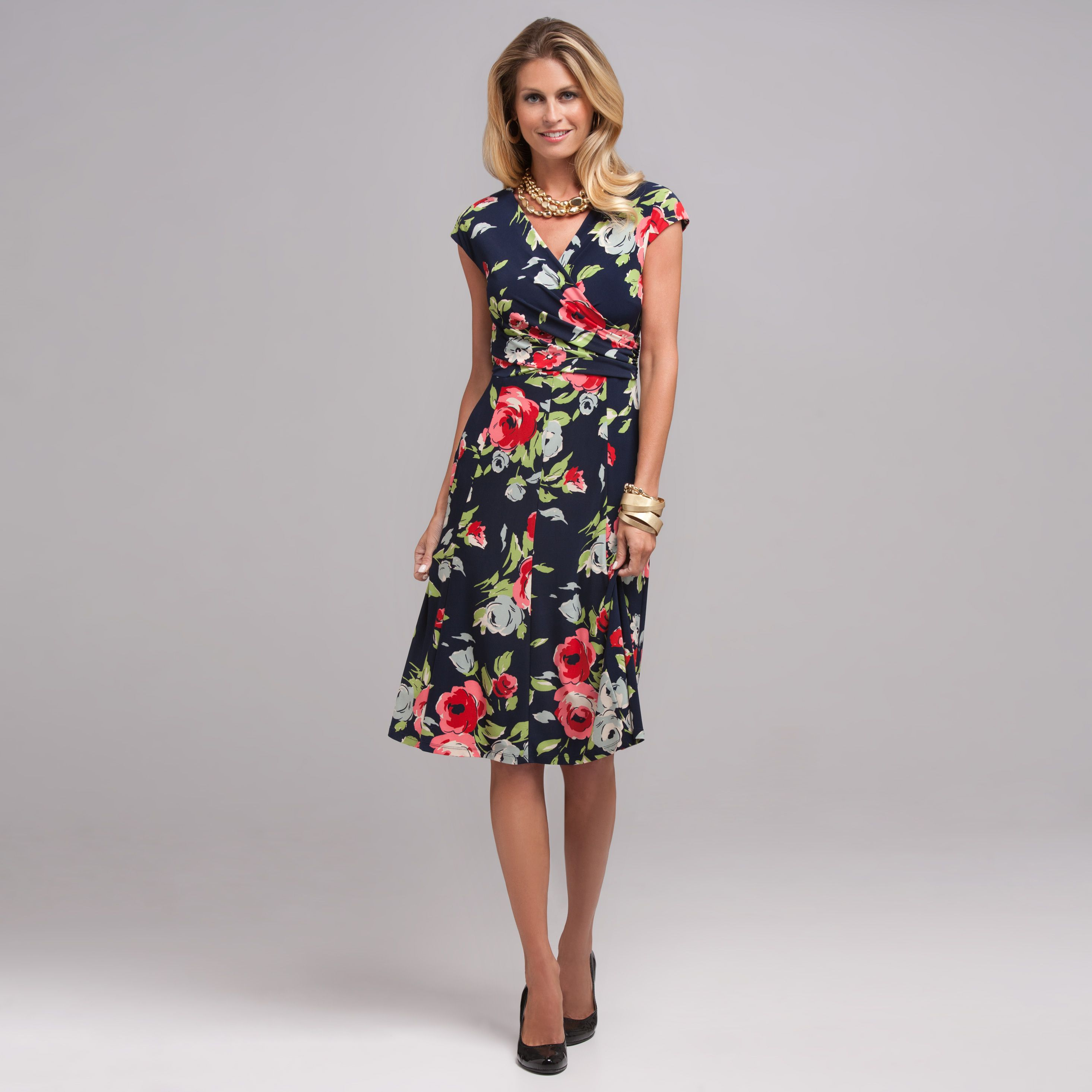 d545d04c18d Dresses that are fitted on top and flare on bottom are a flattering choice  for most older women.
