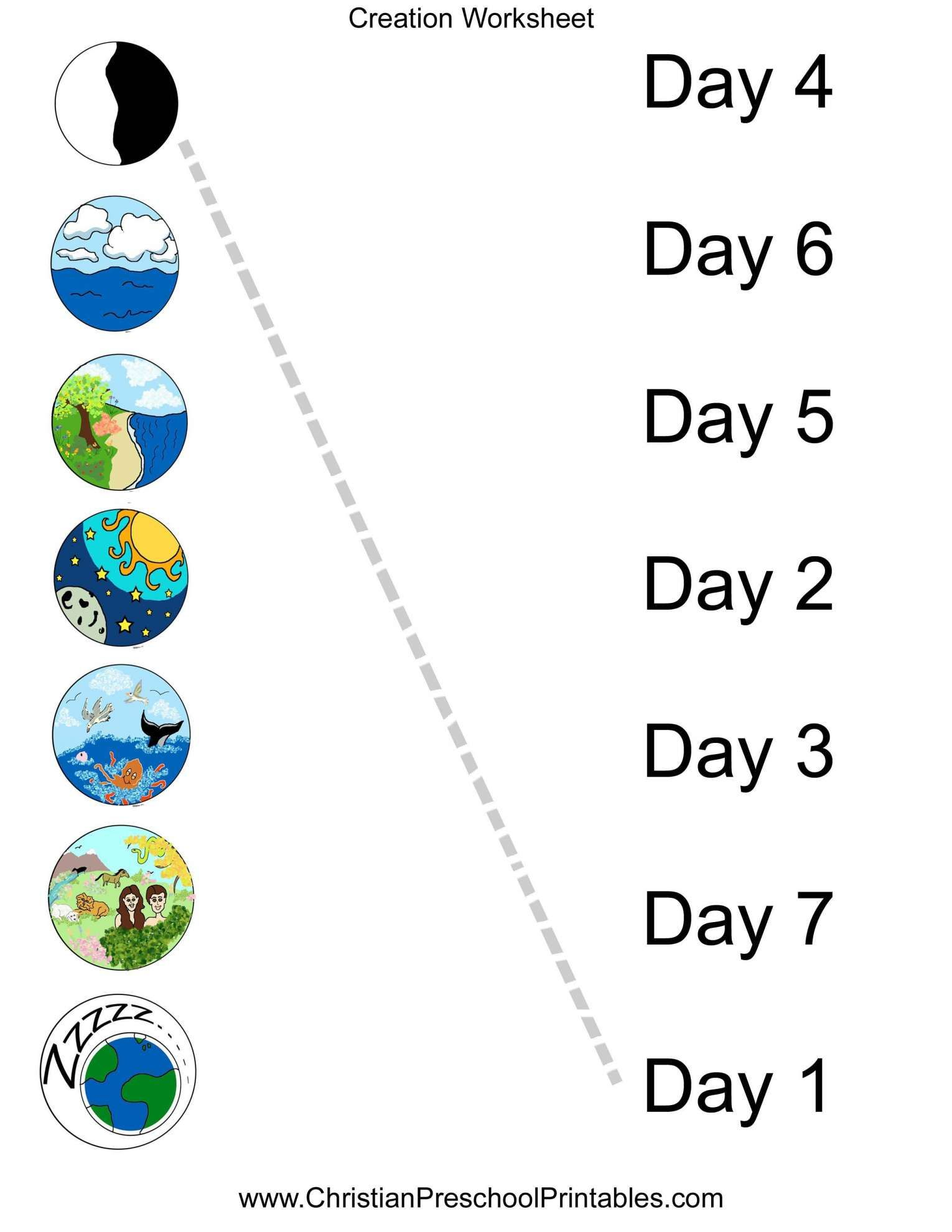 10 Creation Worksheet Preschool