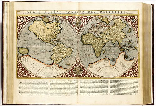Gerard Mercator S Atlas The First Book To Be Called An Atlas 1595 Mercator S Projection Is The Method Still Used Today T Antique World Map Antique Maps Map