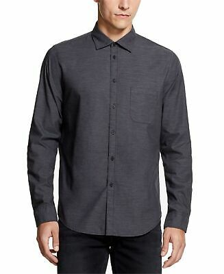 DKNY Mens Shirt Dark Gray Size Large L Collared Button Down Cotton $79 #055 #fashion #clothing #shoes #accessories #men #mensclothing (ebay link)