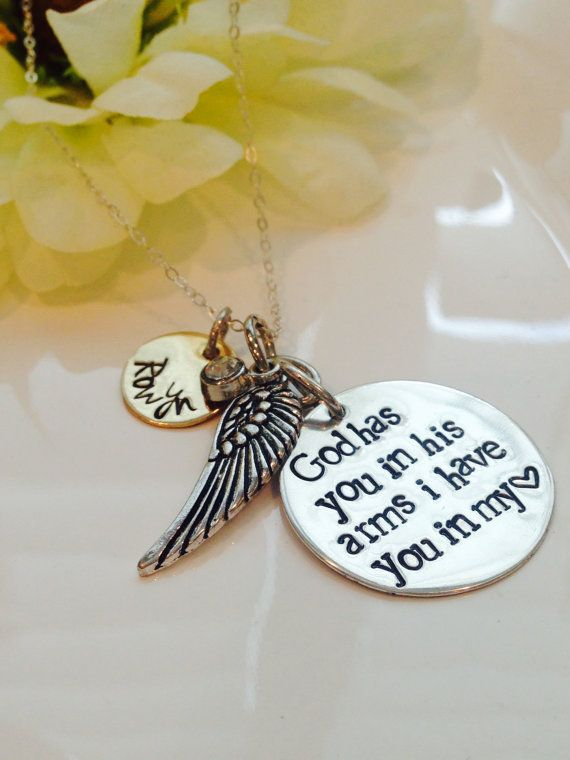 Loss of a loved one necklace-Loss of a child necklace by Cheri1973