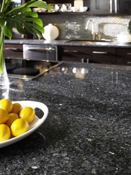ideen für küchenarbeitsplatten aus granit zitronen deko | küche ...