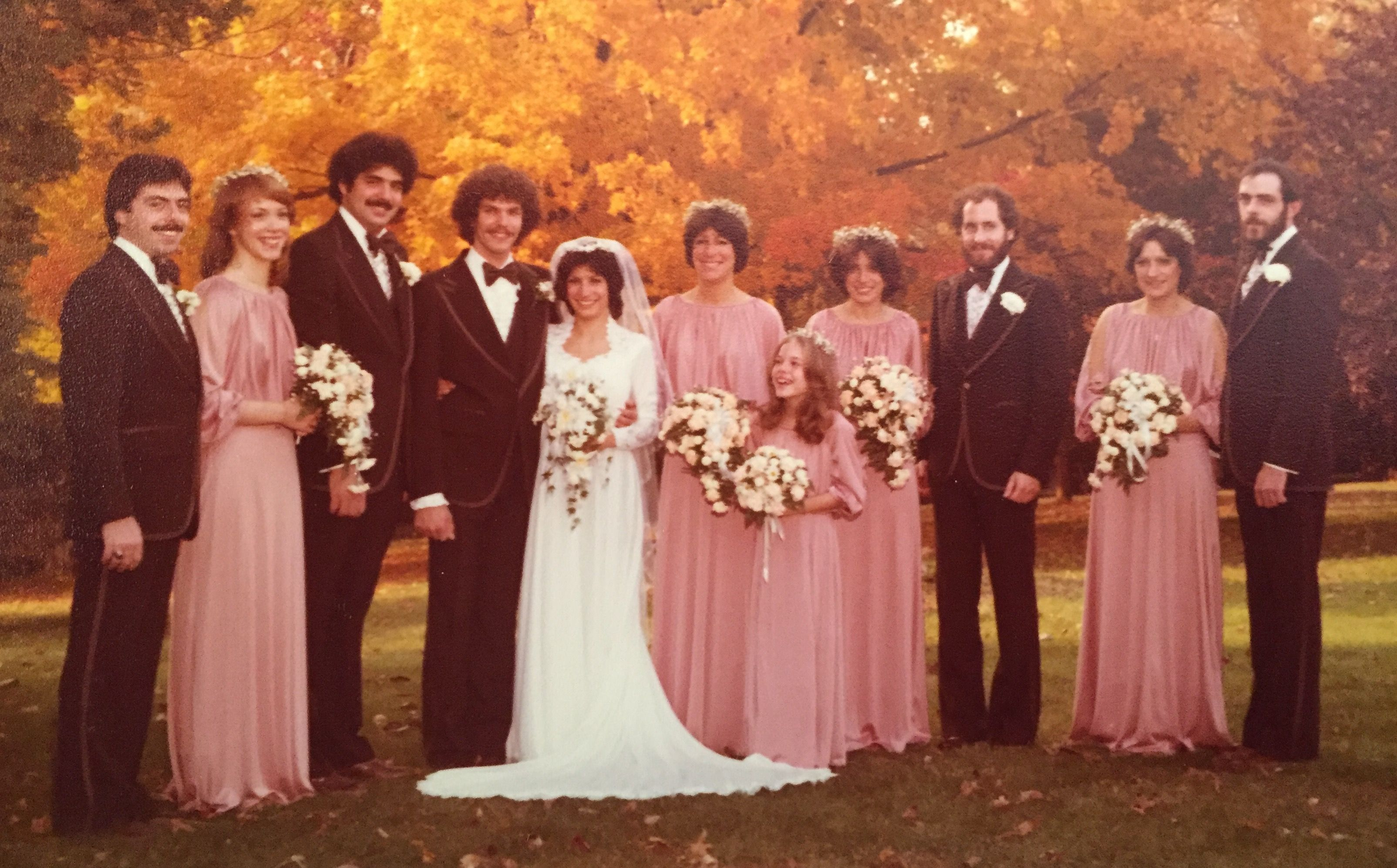 a2fc0b99646 Classic late 70s mauve Quiana bridesmaid dresses Not all vintage weddings  look like they were planned by a clown